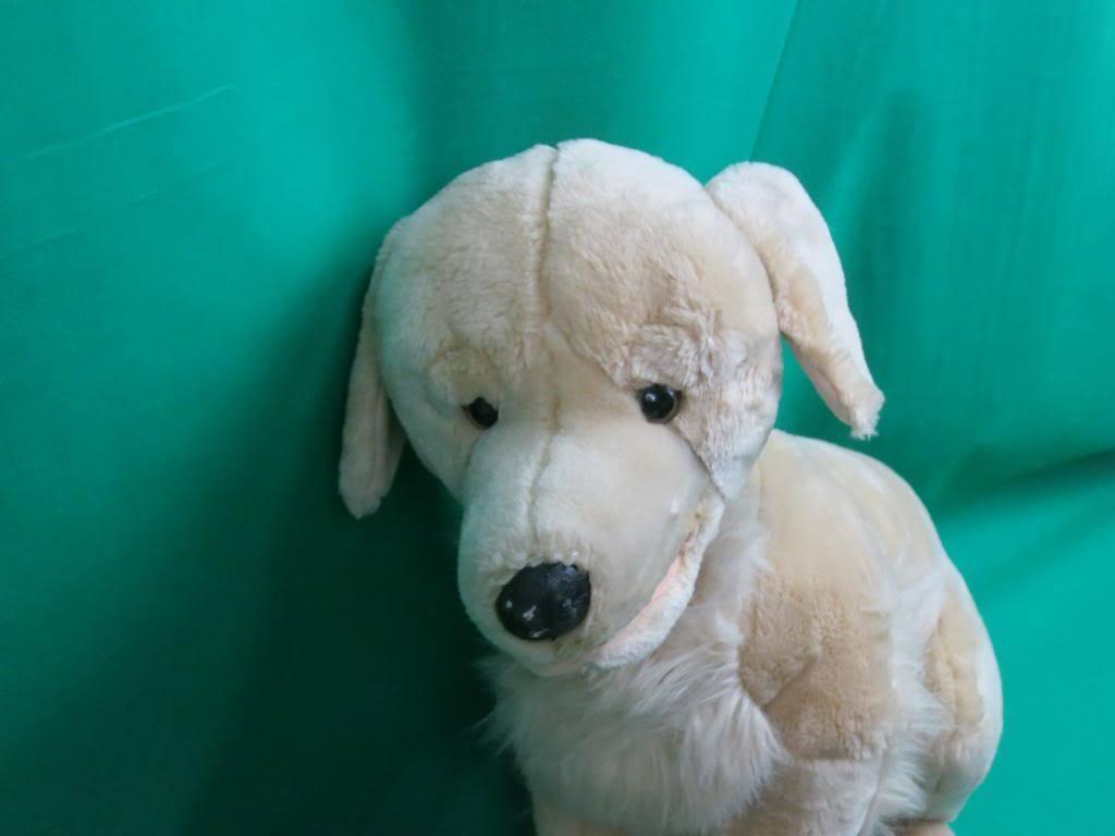 BIG LIFELIKE E&J CLASSIC REALISTIC HUNTING DOG GoldEN RETRIEVER Gelb LAB PLUSH