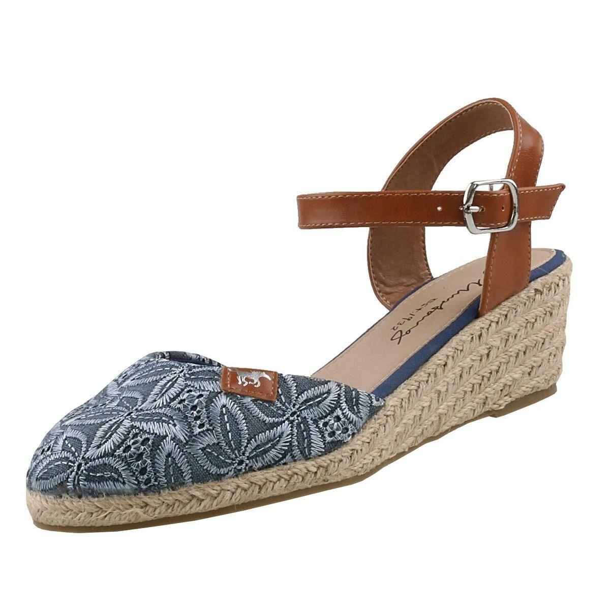 Neuf Mustang chaussures pour femmes Sandales Compensées Escarpins Semelle