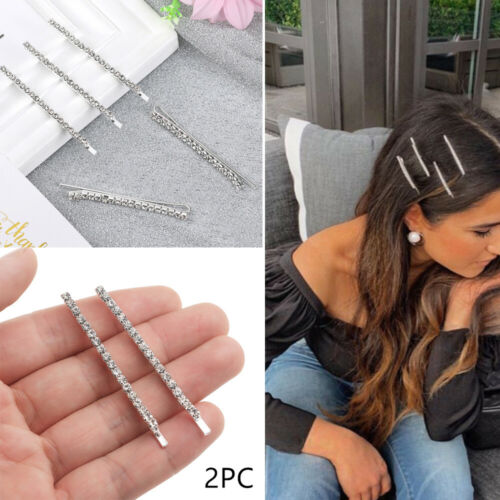 Bling  Shiny Metal Barrette Hair Clips Rhinestones Hairpins  Crystal Hairgrip