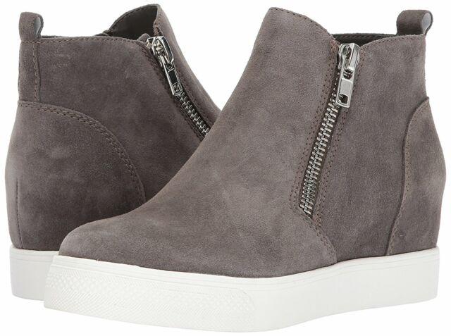 Wedgie Sneaker Grey Suede Size 5.5 P9rp