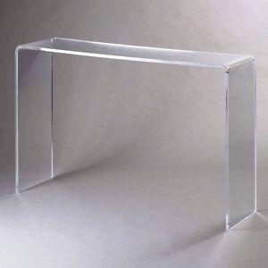 plexycam tavolino consolle in plexiglass trasparente