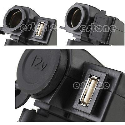 12V 5V Weatherproof Motorcycle USB Cell phone GPS Cigarette Lighter Charger