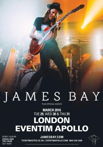 WALL DECOR ART POSTER Guitarist GIFT JAMES BAY TOUR English Singer A3 SIZE