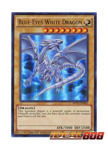 Ultra Rare MVP1-ENSE4 Limited Edition Ne YUGIOH x 1 Blue-Eyes White Dragon