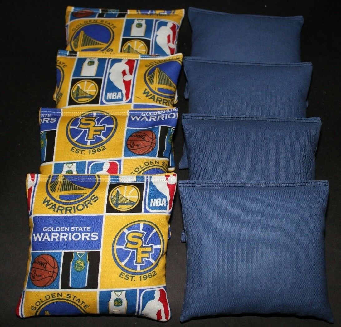 SAN FRAN goldEN  STATE WARRIORS CORNHOLE BEAN BAGS NBA 8 ACA  Handmade Bags   wholesale price