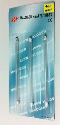 Kit 3 Resistenze Alogene Tubo Stufa Alogena 400 W