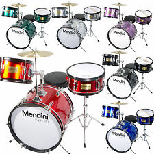 "Mendini 16"" Junior Kids Child Drum Set Kit ~Black Blue Green Red Silver Wine Red"