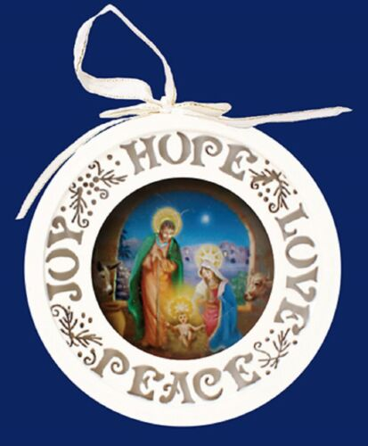 Arbre de Noël décoration lumière up plaque blanc de Noël Ornement Joie Paix Espoir