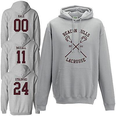 Beacon Hills Lacrosse Hoodie Teen Wolf Stilinski Lahey McCall Sports Grey Color