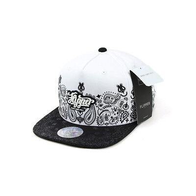 XL~2XL XXL 60~63Cm Unisex Mens Flipper Paisley Rubber Baseball Cap Snapback Hats