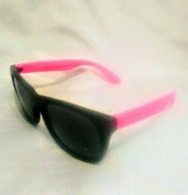 Retro Keyhole Matte Black Frame Neon 80s Style Aviator Sunglasses Super Hipster