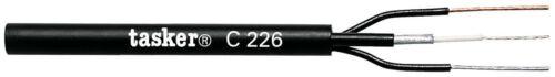 2x0.50 NERO CAVO TASKER C226 CAVO TELECAMERA 1x75ohm
