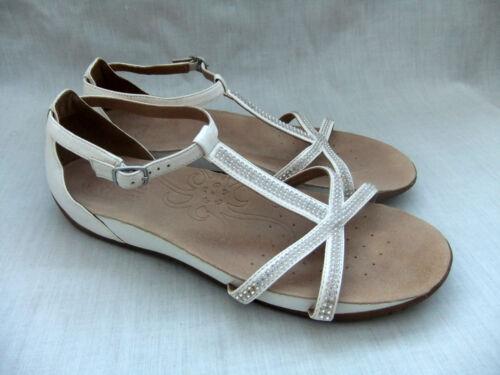 Sparkle 42 Clarks Rona 8 pour cuir femmesblanc cassᄄᆭtaille Sandales du Nouveau 4Lqc35jSAR