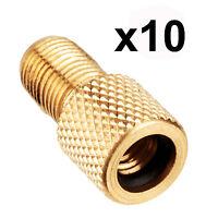 Brass adaptor type Presta to Schrader valve bike car pump connector adapter bag