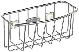 Kitchen-Sink-Sponge-Caddy-Brush-Holder-Suction-Rack-Organizer-Chrome-Home-Decor