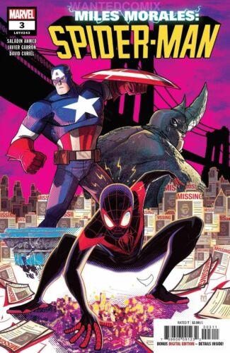 MILES MORALES SPIDER-MAN #3 FEB 2019 MARVEL COMIC BOOK CAPTAIN AMERICA NEW 1
