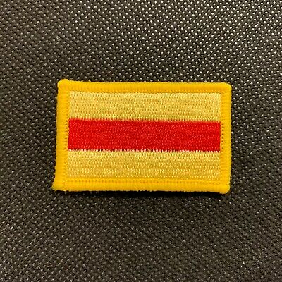 BRITISH ARMY SURPLUS ISSUE OLIVE WHEELWRIGHT GUARDS DIVISION SEW ON TRADE PATCH