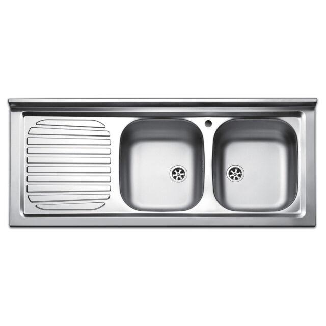 Apell Pisa Lavello Cucina da appoggio con Due Vasche - Inox ...