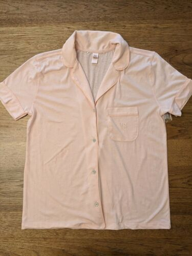 Victoria/'s Secret Light Pink X-Small Knit Short Sleeve Sleep Top Pajama Shirt VS