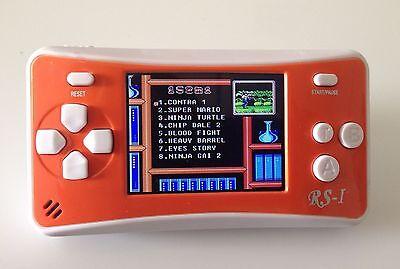 "8-Bit Retro 2.5"" COLOR LCD 150+ Video Games Portable Handheld Console (ORANGE)"