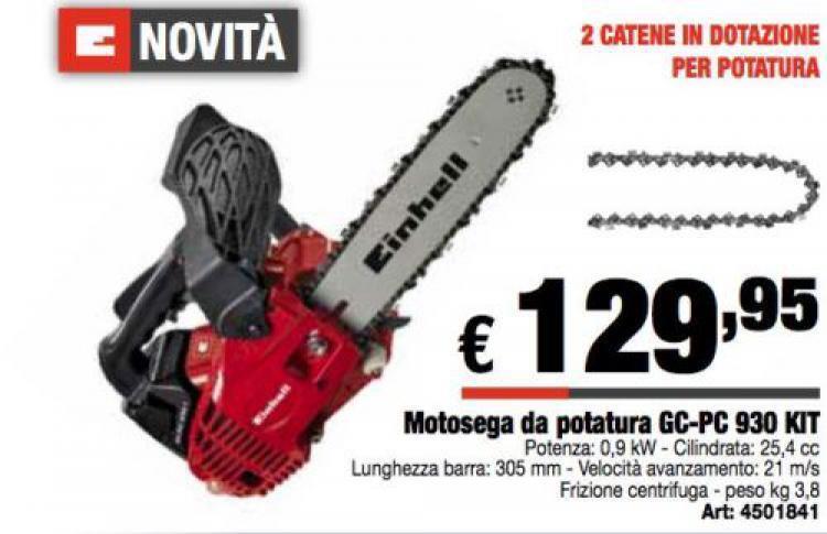 MOTOSEGA A SCOPPIO DA POTATURA GC-PC 930 KIT LAMA CM. 30