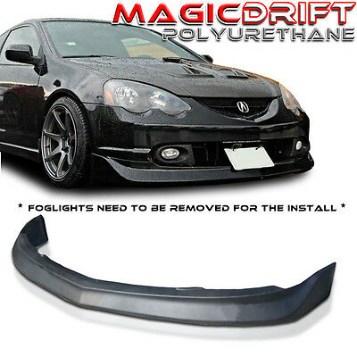 For 02 03 04 ACURA RSX DC5 JDM Mugen Style Front Bumper Lip (Urethane) Black PU