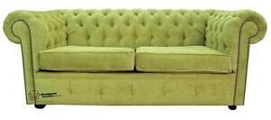 2 Seater Azzuro Olive Green Fabric Sofa
