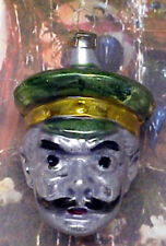 "Small Kaiser Wilhelm Head: ""Vintage Style"" Ornament Blown in Lauscha, Germany"