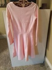 9e1d0e724a American Apparel Classic Ponte Long Sleeve Skater Dress NEW Medium Light  Pink