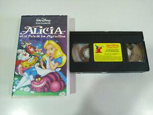 ALICIA-EN-EL-PAIS-DE-LAS-MARAVILLAS-Walt-Disney-VHS-Cinta-Castellano