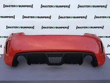FIAT 500 ABARTH REAR BUMPER IN RED GENUINE COMPLETE NO PDC [F152]