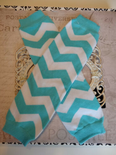 girls boys infant toddler child leg warmers arm warmers turquoise chevron