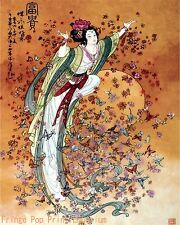 Chinese Butterfly Art Print 8 x 10 - Butterfly Woman - Asian Art - Whimsical