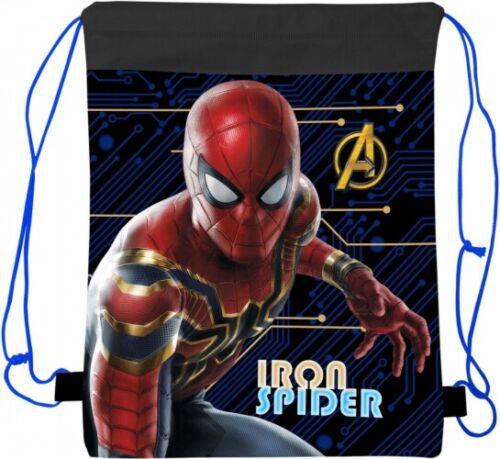 Kids Boys Children Spider-man Drawstring Sport Shoe Swim PE Gym Reversible Bag