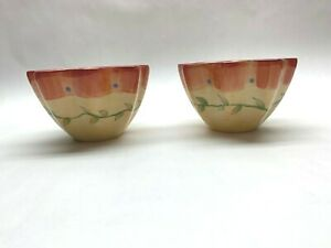 the best attitude bf3d0 13954 Details about Pfaltzgraff Napoli Stoneware Dip Sauce Hors d oeuvres  Appetizers Bowls set 2