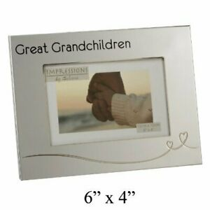 Silver-Plated-photo-Frame-GREAT-GRANDCHILDREN-6-x-4-photo