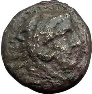 ALEXANDER-III-the-Great-325BC-Macedonia-Ancient-Greek-Coin-HERCULES-CLUB-i64579