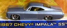 JADA 67 1967 CHEVY CHEVROLET IMPALA SS MIST BLUE CUSTOM STYLE COLLECTIBLE CAR