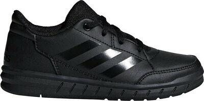 Adidas Boys Shoes Kids Altasport School Casual Running Trainers Black White | eBay