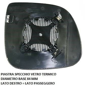 Lato Passeggero 00350 VETRO SPECCHIO DX Destro