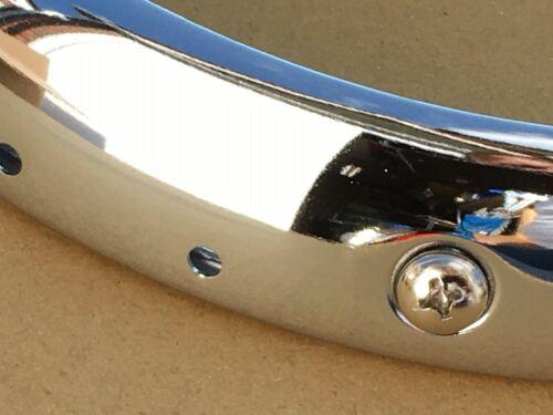 GRATIS UK POST Morris Minor 56-71 Nuovo Chrome PROIETTORE Cerchi Triplo Placcato x 2