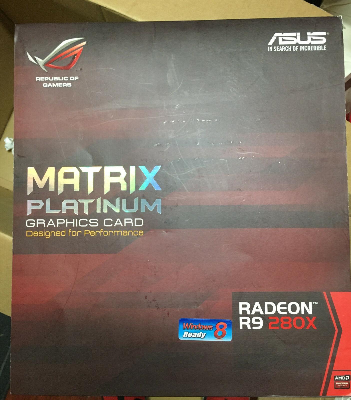 *ASUS_AMD Radeon R9 280X Matrix Platinum 3GB Gaming Graphic Card_New*