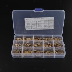Prettyia-330X-Brass-Threaded-Round-Knurl-Insert-Embedded-Nut-Set-M2-M3-M4-M5