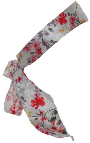Accessorize Floral Satin Hairband Bandana NWT