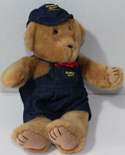 Eden OSH KOSH BEAR WITH DENIM OVERALLS and HAT Stuffed Plush Animal TOY NEW NWT