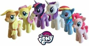 100% Vrai Peluche My Little Pony 27 Cm Rainbow Dash Pinkie Pie Applejack Rarity Fluttershy TrèS Poli