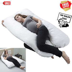 Oversized Comfort Pregnancy Maternity Pillow U Shape Total full Body Support US
