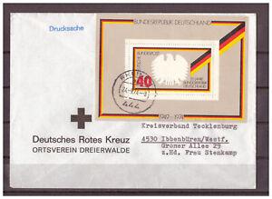 BRD-Drucksache-Deutsches-Rotes-Kreuz-Block-10-TSt-Rheine-24-09-1974