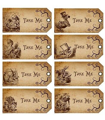 alice in wonderland tags template - alice in wonderland collection on ebay