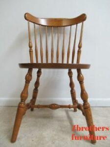 Astounding Details About Vintage Oak Bent Brothers Windsor Back Dining Room Side Desk Chair Uwap Interior Chair Design Uwaporg